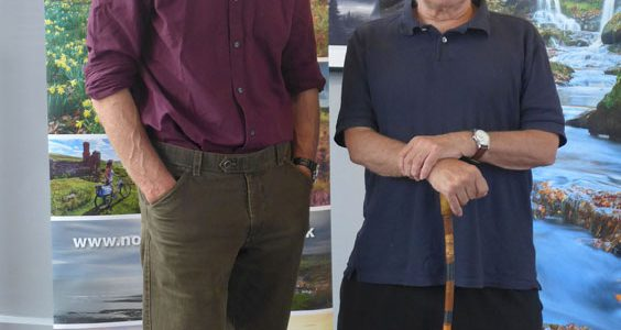 Joe Cornish and Peter Hicks at North York Moors Art Award launch