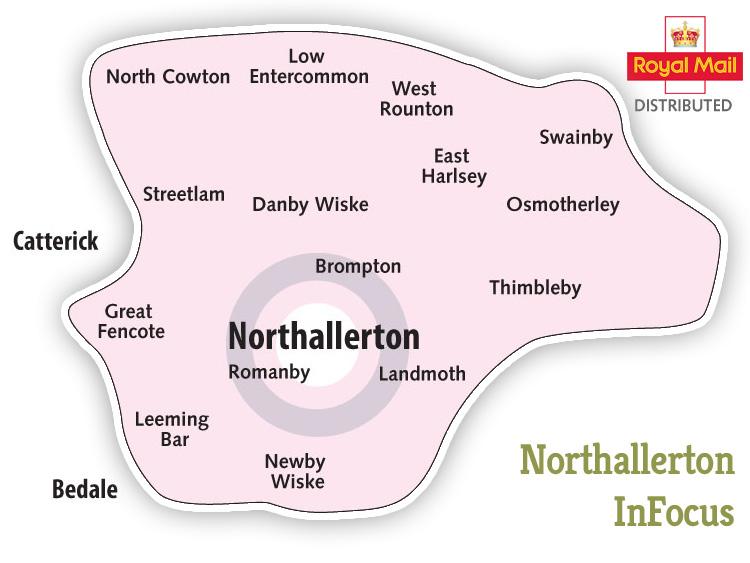 Northallerton InFocus Distribution Map